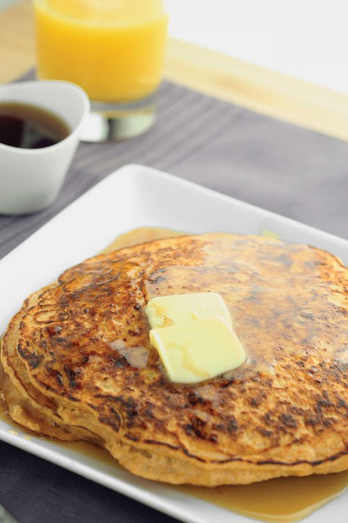 Sweet potato pancakes from the cook book The Shredded Chef.