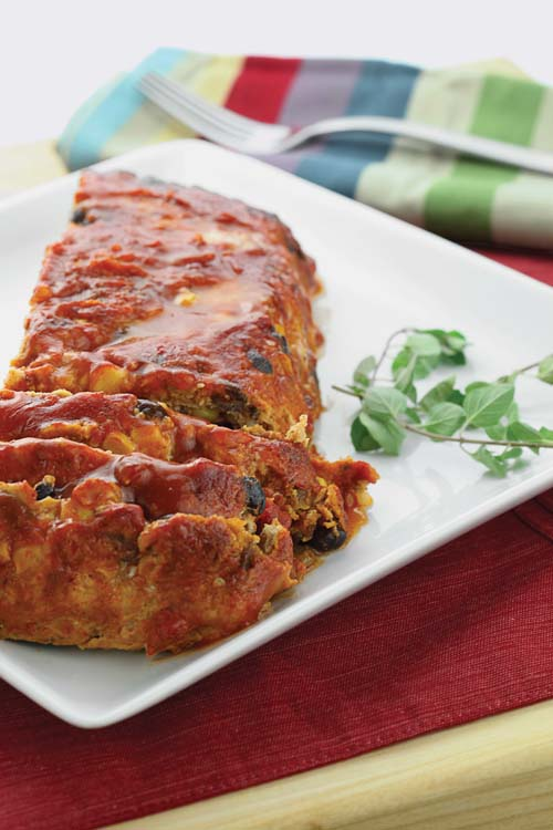 Mexican Meatloaf from the cook book The Shredded Chef.
