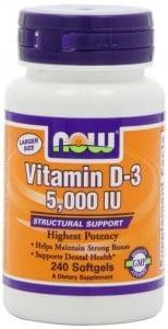 Now Foods vitamin D-3.