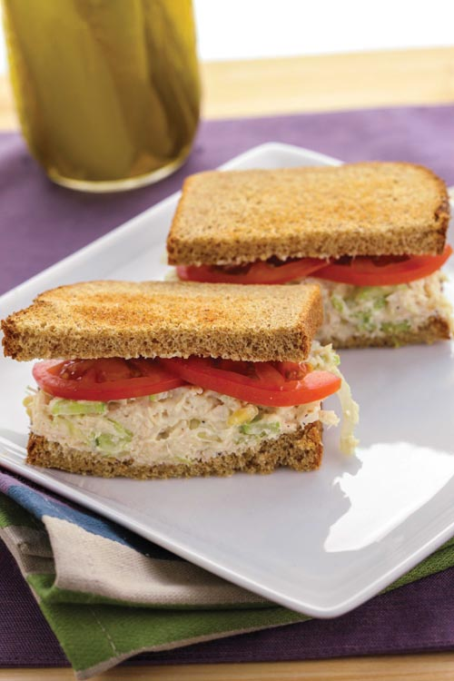 The Super-Fast Chicken Salad Sandwich from the cook book The Shredded Chef.