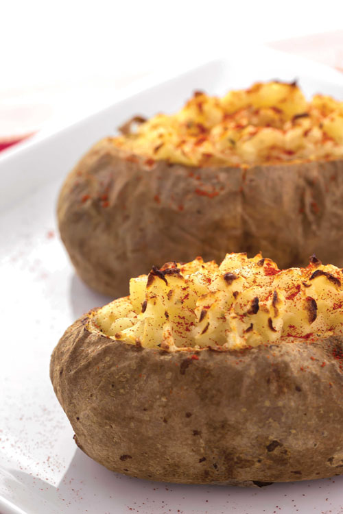 The Roasted Garlic Twice-Baked Potato from the book The Shredded Chef.