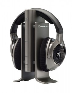 Sennheiser RS 180 digital wireless headphones.