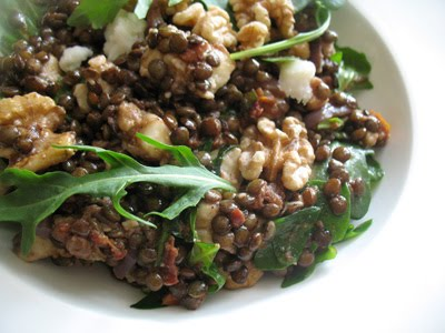lentil-goat-cheese-salad