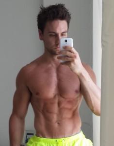 Mike Matthews shirtless.