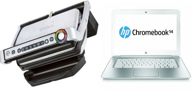 """Cool Stuff of the Week: Electric """"Smart Grill,"""" UFC Slow-Mo Highlights, HP Chromebook 14, and More…"""