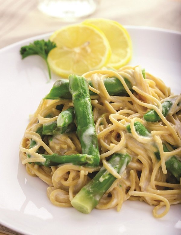 asparagus and goat cheese pasta