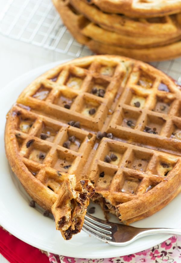 Healthy-Chocolate-Chip-Waffles