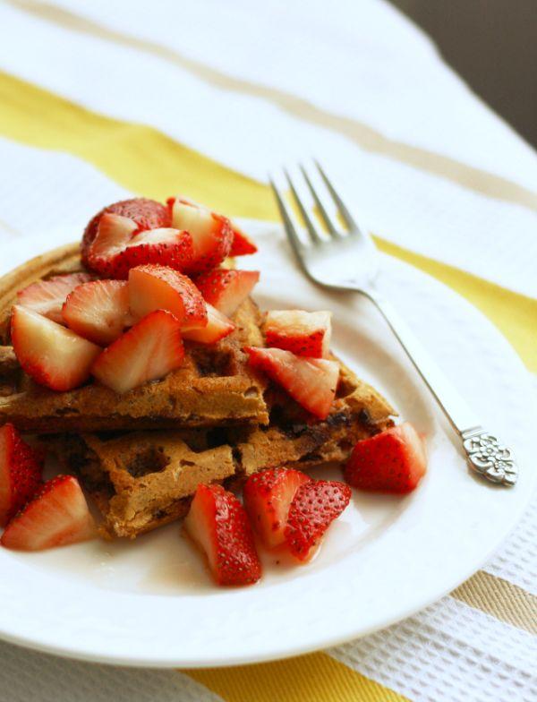 healthy-spelt-waffles