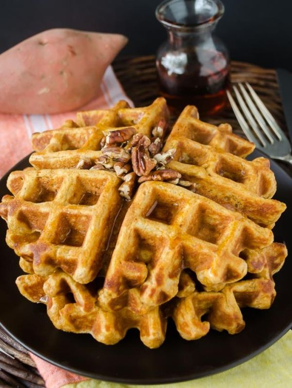 healthy-sweet-potato-waffles