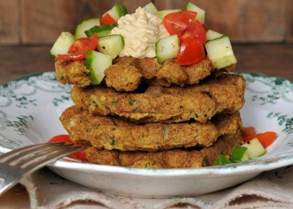 vegan-falafel-waffle