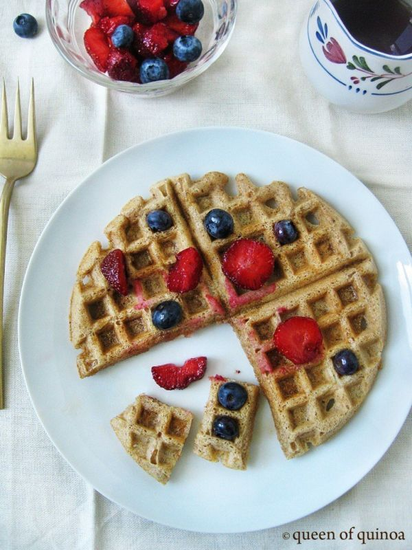healthy-blueberry-quinoa-waffles