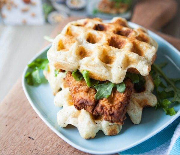 healthy-chicken-and-biscuit-waffles