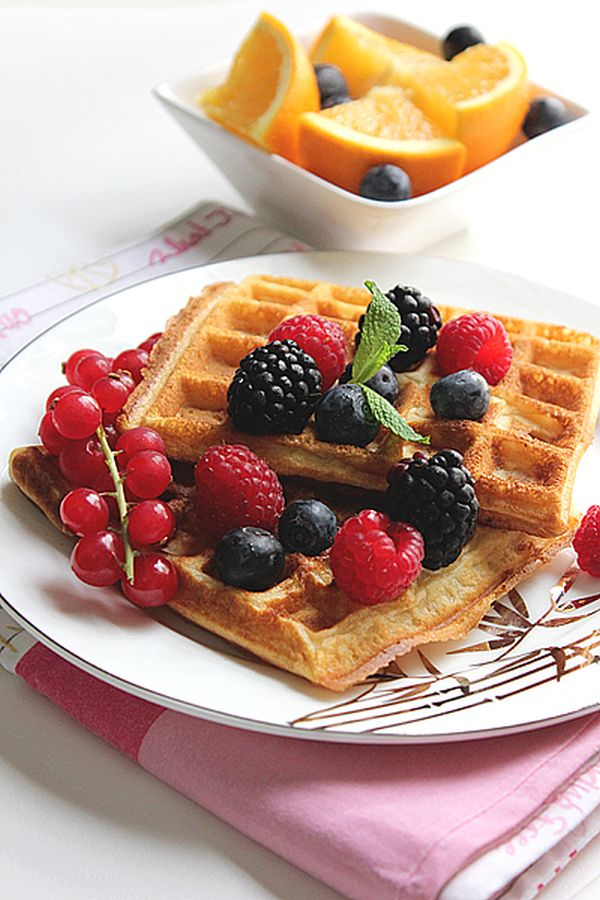 healthy-orange-waffles