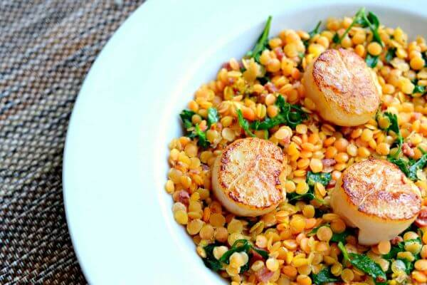 scallop-lentil-salad-recipe