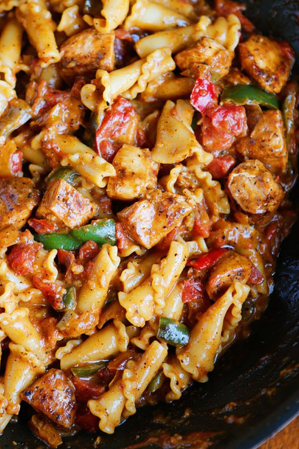 chicken-fajita-pasta-recipe