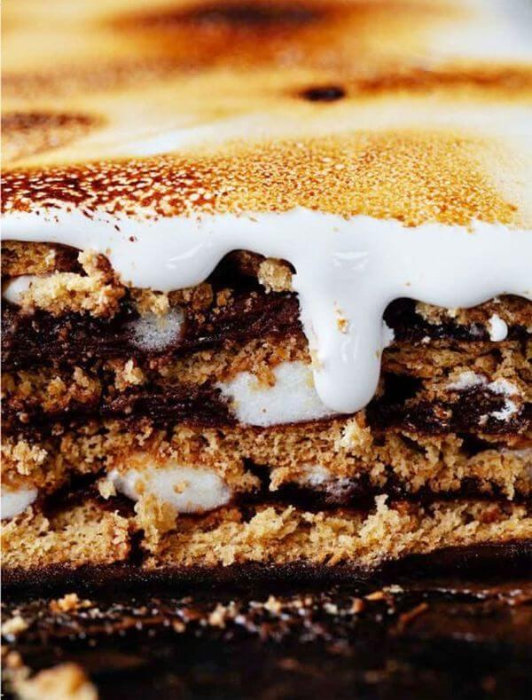 Smores Pudding Cake