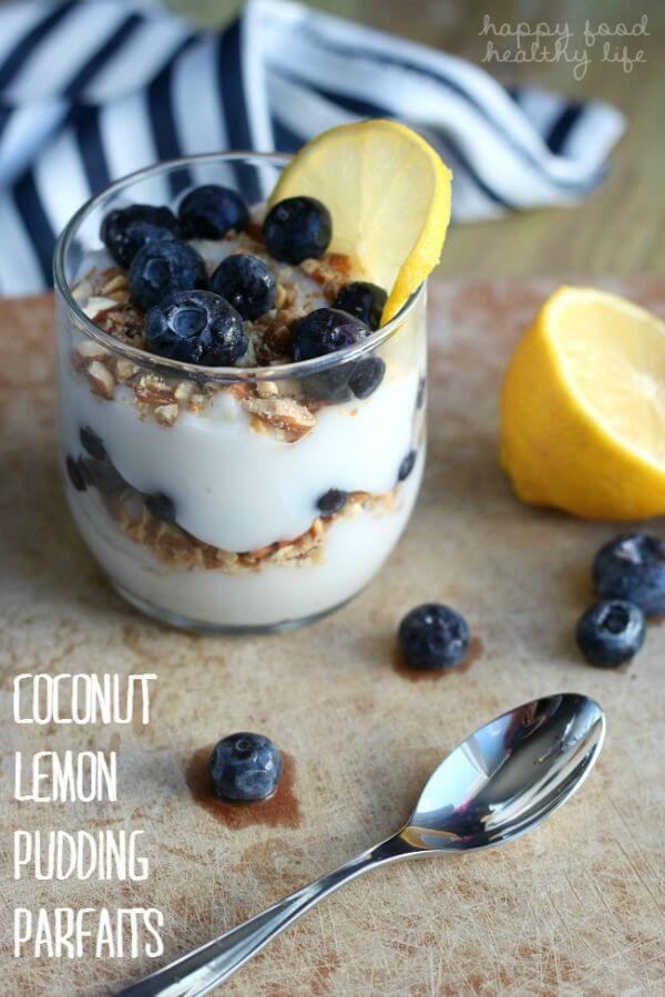 lemon pudding parfait