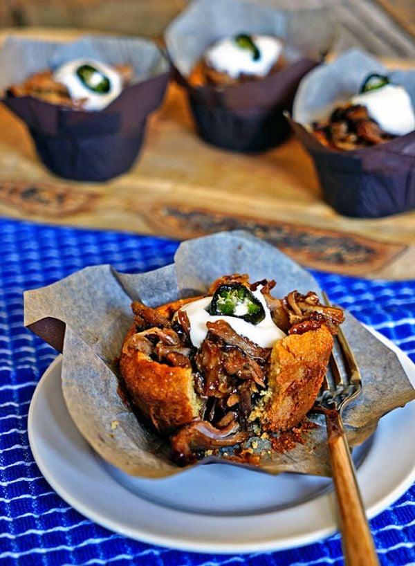 Pulled Pork Cornbread Muffins