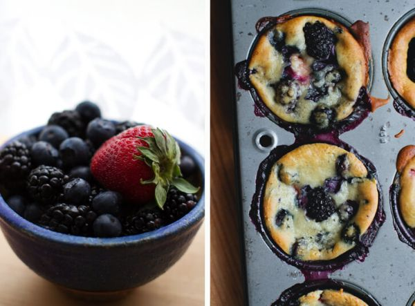 healthy berry muffin recipe