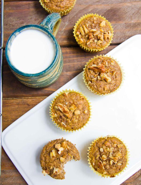zucchini banana walnut muffins