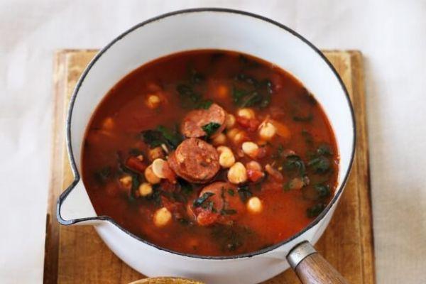 Chickpea Chorizo Soup