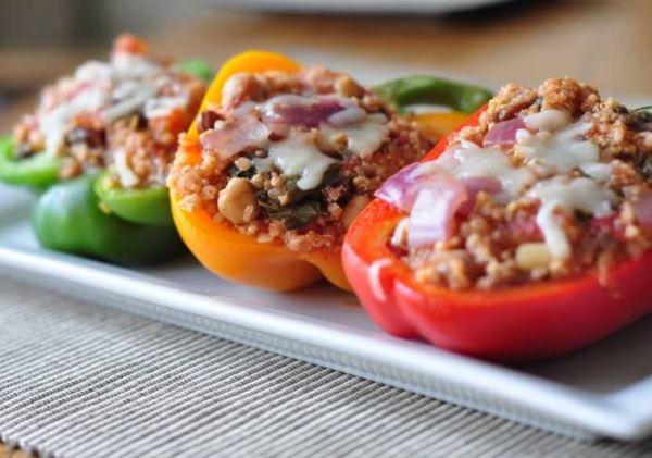 Spanish stuffed peppers recipe