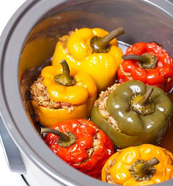 easy crockpot stuffed peppers recipe