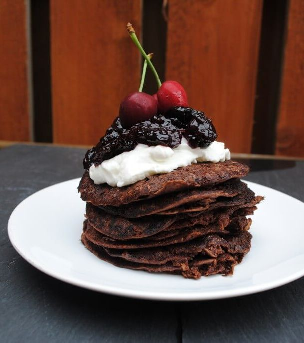 healthy chocolate pancakes recipe