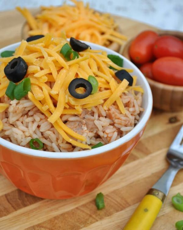 quyick Chicken Taco Rice Bowls