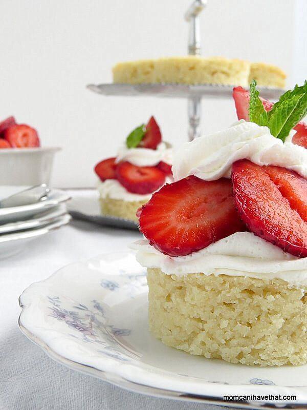 sugar free strawberry shortcake