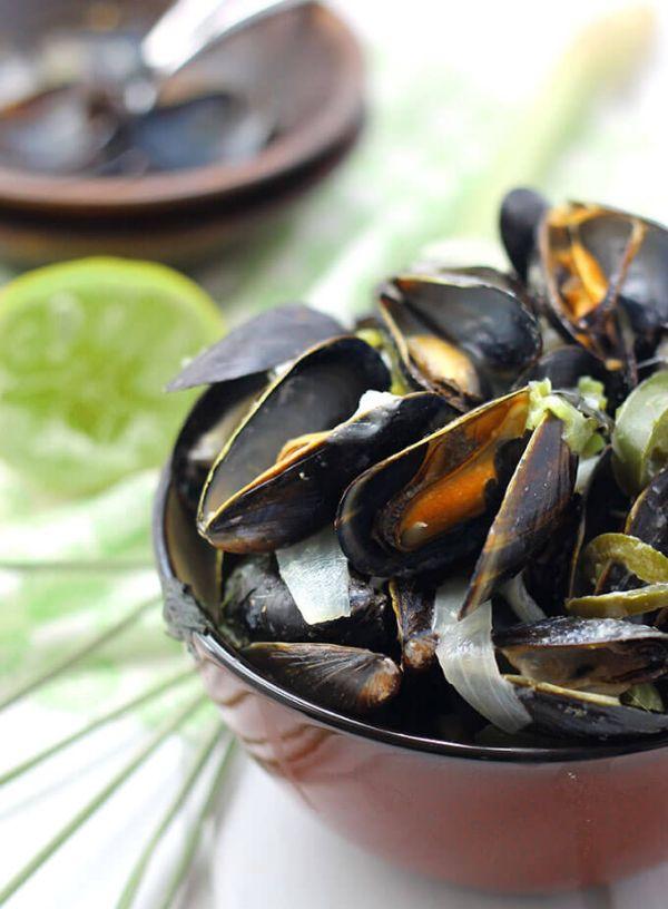 Thai Curry mussels recipe