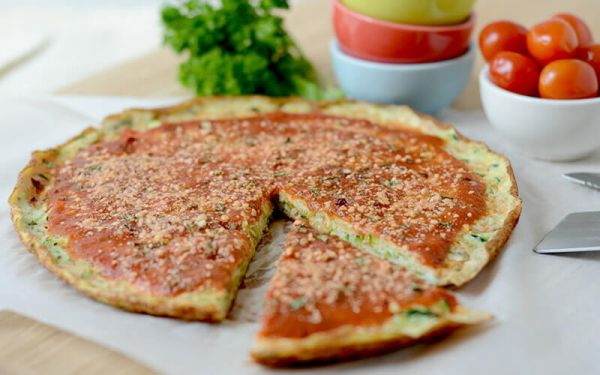 high protein breakfast pizza