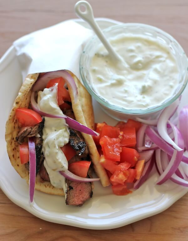 Sirloin Steak Gyros recipe