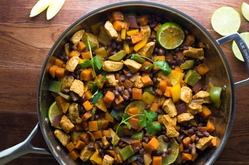 healthy Chicken and Sweet Potato Skillet