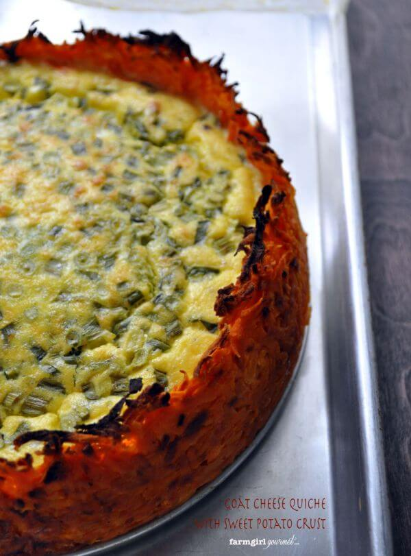 healthy Goat Cheese Quiche recipe