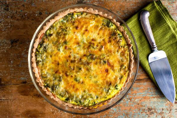 healthy Scallion Quiche recipe