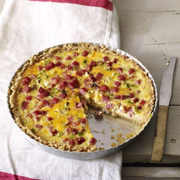 healthy ham and cheese quiche recipe