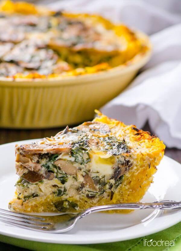 healthy kale quiche recipe