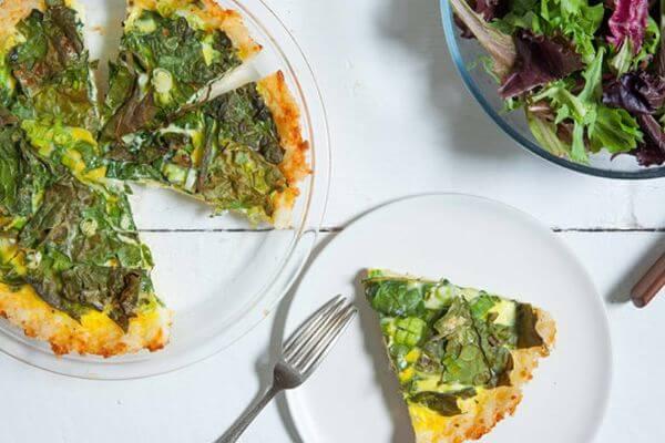 healthy kale quiche