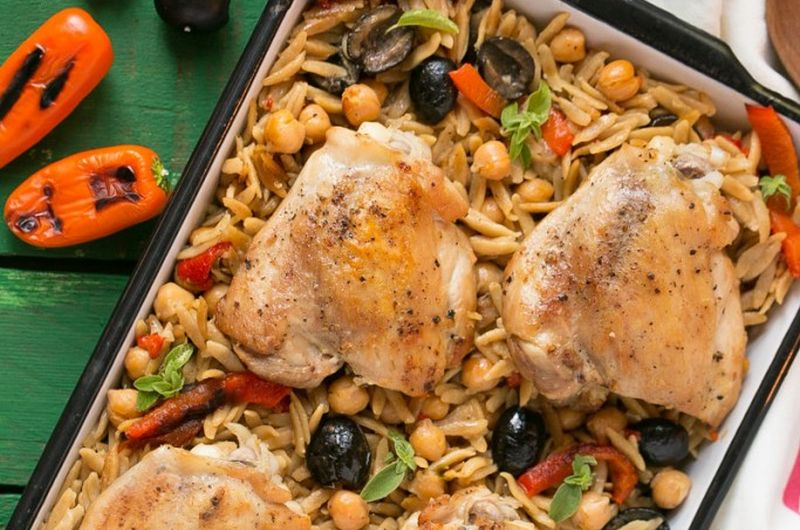 healthy one pot mediterranean chicken