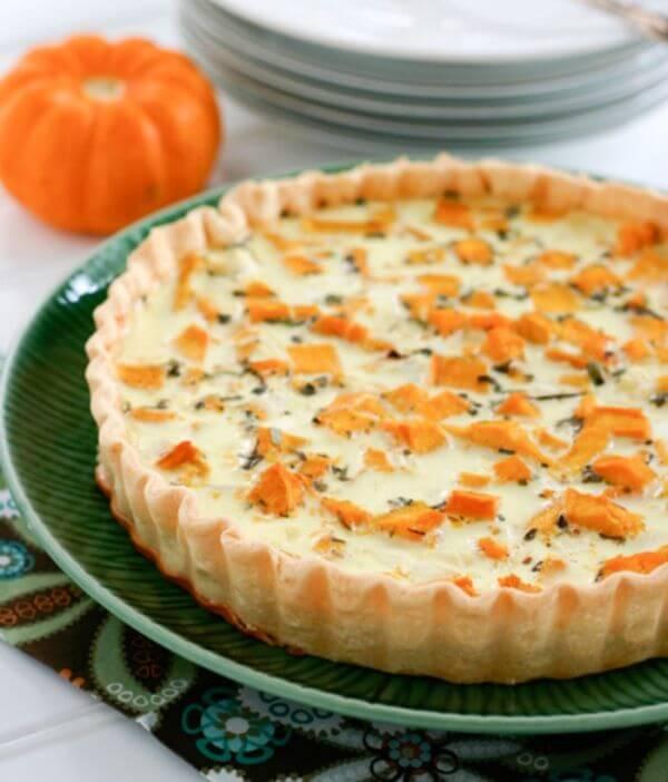 healthy pumpkin quiche recipe