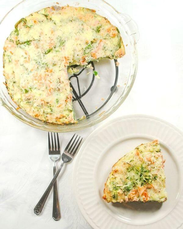 healthy salmon quiche recipe