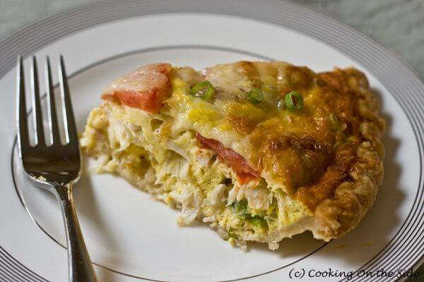 healthy seafood quiche recipe