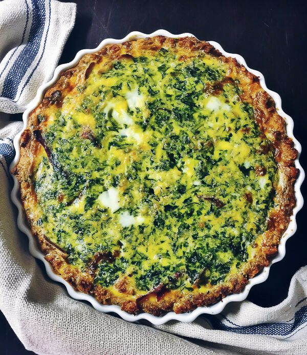 healthy spinach quiche recipe
