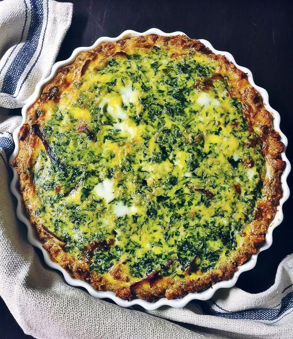 healthy spinach quiche recipe