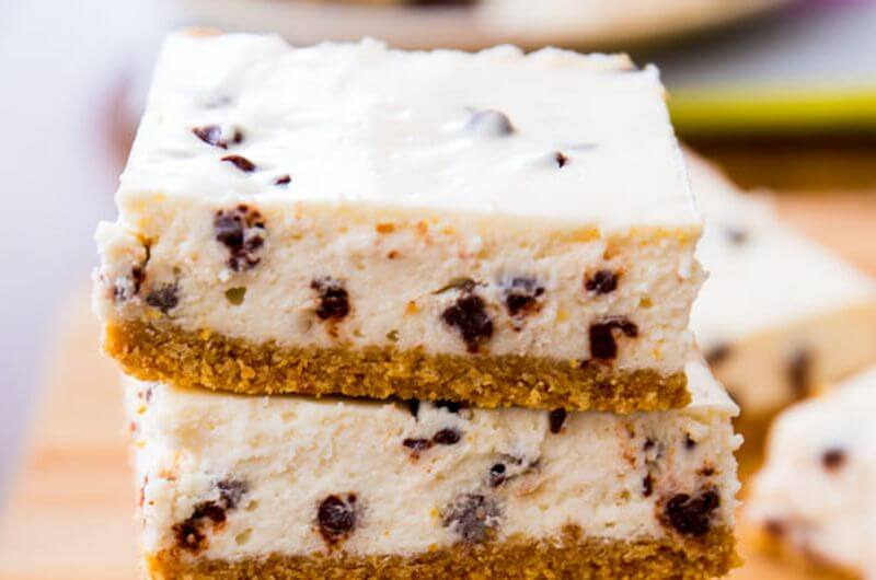 low calorie cheesecake bars