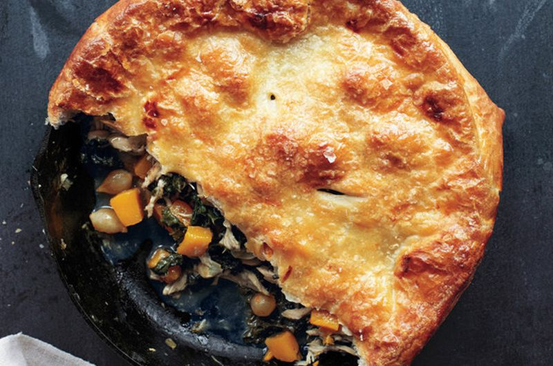 healthy one pot chicken pot pie