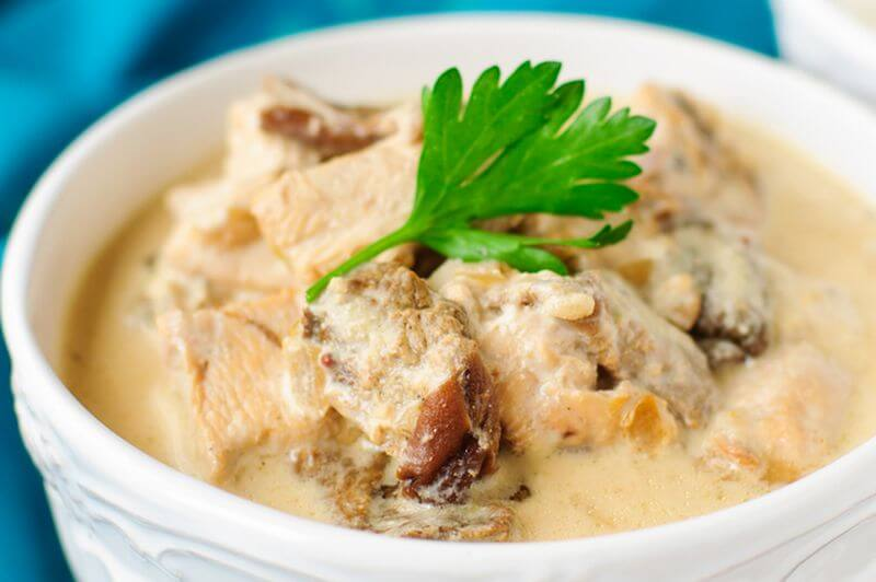 healthy Chicken Stroganoff recipe