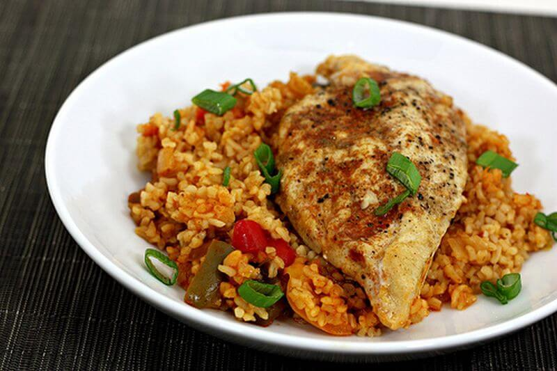healthy chicken peppers recipe