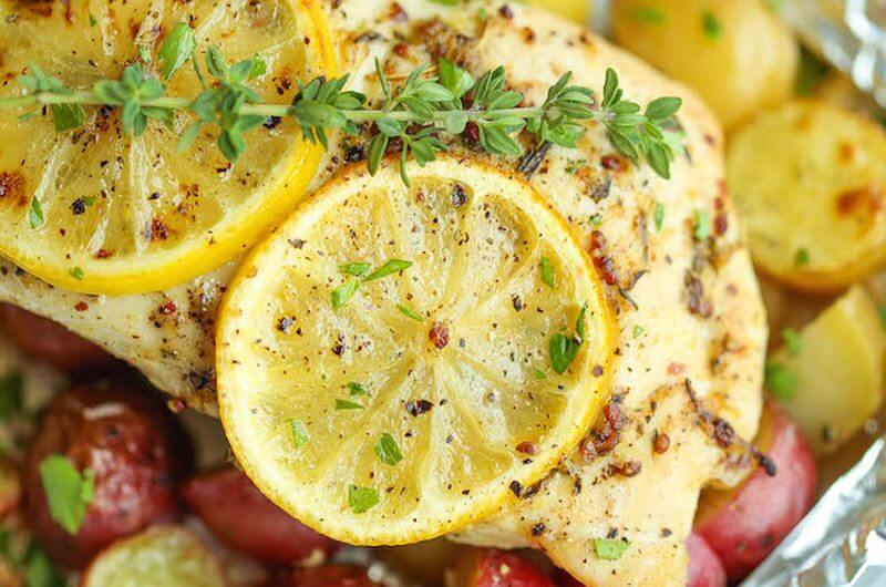 healthy lemon chicken recipe
